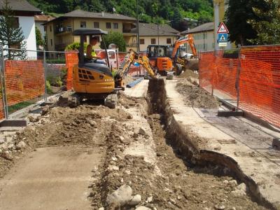 Scurelle - rifacimento acquedotto nel centro abitato