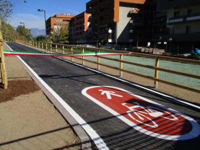 Trento - ciclopedonale v.Dos Trento - v.Druso - P.za Centa